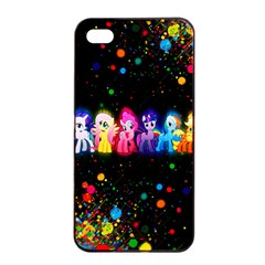 Ponies Apple Iphone 4/4s Seamless Case (black) by TheTalkingDead