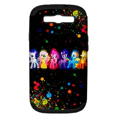 Ponies Samsung Galaxy S Iii Hardshell Case (pc+silicone) by TheTalkingDead