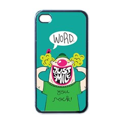 Happy Case Apple iPhone 4 Case (Black) by Contest1771648