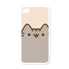 Cute Cat Apple Iphone 4 Case (white) by Contest1747934