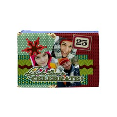 Merry Christmas By Merry Christmas   Cosmetic Bag (medium)   Nr8h16p9mpx3   Www Artscow Com Front