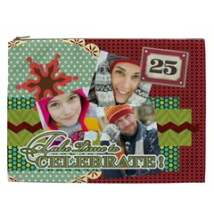 Merry Christmas By Merry Christmas   Cosmetic Bag (xxl)   Bgu1anrd0emm   Www Artscow Com Front