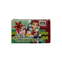 Merry Christmas By Merry Christmas   Cosmetic Bag (small)   U82hkm0c3qwb   Www Artscow Com Front
