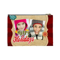 Merry Christmas By Merry Christmas   Cosmetic Bag (large)   J9q8sjo5iith   Www Artscow Com Back