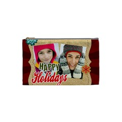 Merry Christmas By Merry Christmas   Cosmetic Bag (small)   0pwrxx33lk5i   Www Artscow Com Front