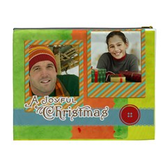 Merry Christmas By Merry Christmas   Cosmetic Bag (xl)   1vjnzhgwduaw   Www Artscow Com Back