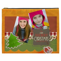 Merry Christmas By Merry Christmas   Cosmetic Bag (xxxl)   Q9hh01h6mp5u   Www Artscow Com Front