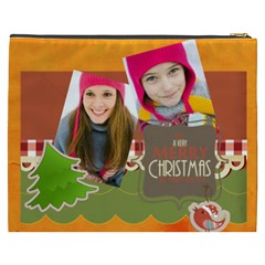 Merry Christmas By Merry Christmas   Cosmetic Bag (xxxl)   Q9hh01h6mp5u   Www Artscow Com Back