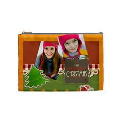 Merry Christmas By Merry Christmas   Cosmetic Bag (medium)   Y6mv7lc0i290   Www Artscow Com Front