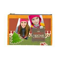 Merry Christmas By Merry Christmas   Cosmetic Bag (large)   Nnvp69sur4se   Www Artscow Com Front