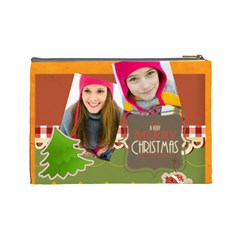 Merry Christmas By Merry Christmas   Cosmetic Bag (large)   Nnvp69sur4se   Www Artscow Com Back