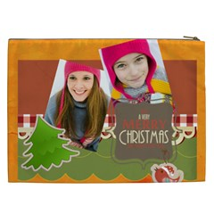 Merry Christmas By Merry Christmas   Cosmetic Bag (xxl)   Qex9nzs0xdw1   Www Artscow Com Back