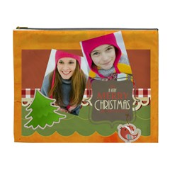 Merry Christmas By Merry Christmas   Cosmetic Bag (xl)   Q3nowhdavcpu   Www Artscow Com Front