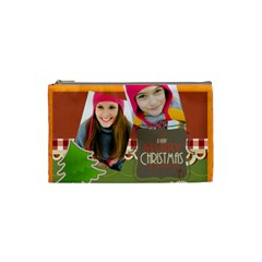 Merry Christmas By Merry Christmas   Cosmetic Bag (small)   Y1v1r0eydamn   Www Artscow Com Front