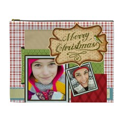 Merry Christmas By Merry Christmas   Cosmetic Bag (xl)   Imlmuz3hzzn6   Www Artscow Com Front