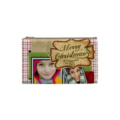 Merry Christmas By Merry Christmas   Cosmetic Bag (small)   Nmdfp3teukle   Www Artscow Com Front