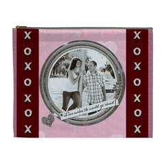 Love And Kisses Xl Cosmetic Bag By Lil    Cosmetic Bag (xl)   2fac4bjg33sy   Www Artscow Com Front