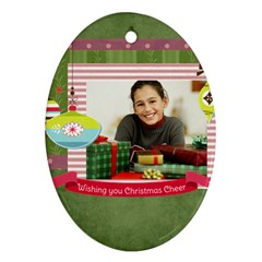 Merry Christmas By Merry Christmas   Oval Ornament (two Sides)   G8b8wekbnd2m   Www Artscow Com Back
