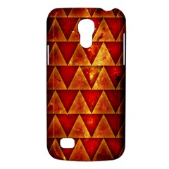 Orange Triangle Tiles Samsung Galaxy S4 Mini Hardshell Case