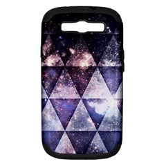 Triangle Tiles Samsung Galaxy S Iii Hardshell Case (pc+silicone) by Contest1775858