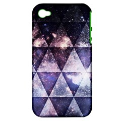 Triangle Tiles Apple Iphone 4/4s Hardshell Case (pc+silicone) by Contest1775858