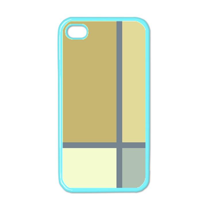 Minimalist Art Apple iPhone 4 Case (Color)
