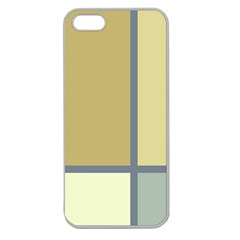 Minimalist Art Apple Seamless Iphone 5 Case (clear) by Contest1775858