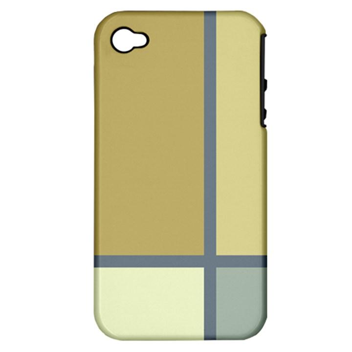 Minimalist Art Apple iPhone 4/4S Hardshell Case (PC+Silicone)