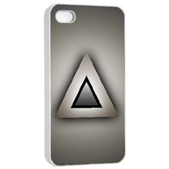 Metalic Triangle Apple Iphone 4/4s Seamless Case (white)