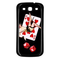 Lady Luck Samsung Galaxy S3 Back Case (black) by TheTalkingDead