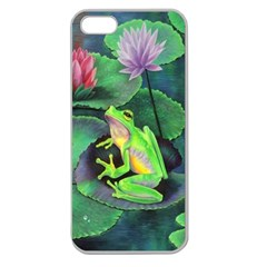frog Apple Seamless iPhone 5 Case (Clear) by Contest1602434