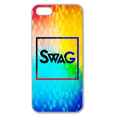 Swag (color) Apple Seamless Iphone 5 Case (clear)