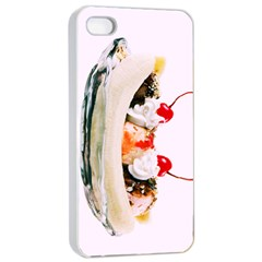 Banana Split Apple Iphone 4/4s Seamless Case (white)