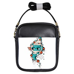 Muscle Cat Girl s Sling Bag by Randyotter