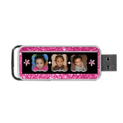 Pink Usb By Angeye   Portable Usb Flash (two Sides)   Axjcbjn9ltuj   Www Artscow Com Front