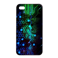 Circuit Board 2 0 Apple Iphone 4/4s Seamless Case (black)