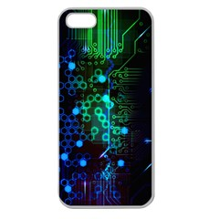 Circuit Board 2 0 Apple Seamless Iphone 5 Case (clear)