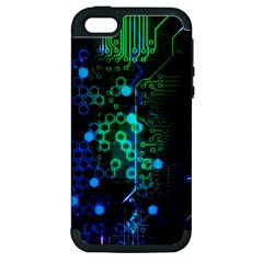 Circuit Board 2 0 Apple Iphone 5 Hardshell Case (pc+silicone) by TheTalkingDead