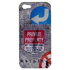 Warning Apple Iphone 5 Hardshell Case by Contest1761904