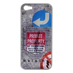 warning Apple iPhone 5 Case (Silver) by Contest1761904