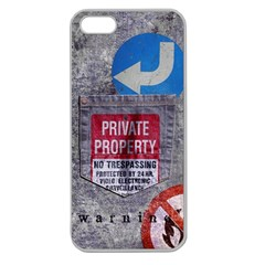 warning Apple Seamless iPhone 5 Case (Clear) by Contest1761904