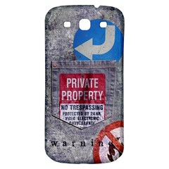 Warning Samsung Galaxy S3 S Iii Classic Hardshell Back Case