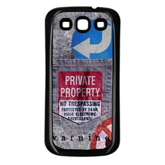Warning Samsung Galaxy S3 Back Case (black) by Contest1761904