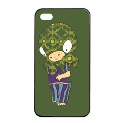 Octavio Apple Iphone 4/4s Seamless Case (black) by RachelIsaacs