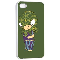 Octavio Apple Iphone 4/4s Seamless Case (white) by RachelIsaacs