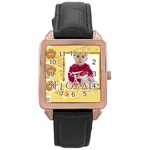 kids - Rose Gold Leather Watch