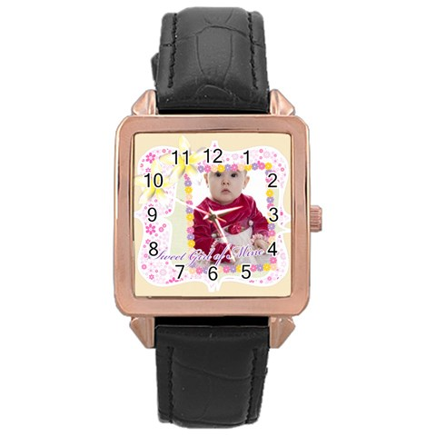 Kids By Anita   Rose Gold Leather Watch    Zmx7v1eoq1cm   Www Artscow Com Front
