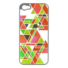 TRIANGLEZ Apple iPhone 5 Case (Silver) by ILANA