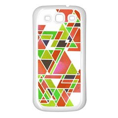 Trianglez Samsung Galaxy S3 Back Case (white) by ILANA