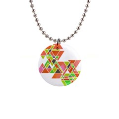 Triangle Pillow Button Necklace by GGdesign